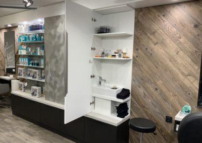 Rénovation partielle d'un salon de coiffure à Craponne01