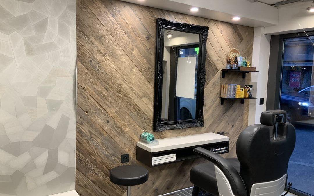 Rénovation d'un salon de coiffure à Craponne